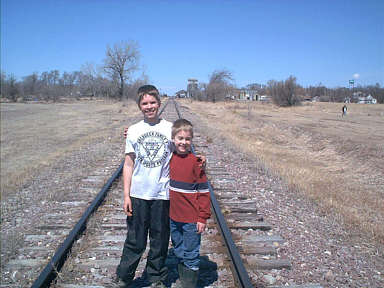 Description: Description: Description: Description: Description: Description: Description: C:\@@@web\momsimages\David and Tyler on tracks.jpg